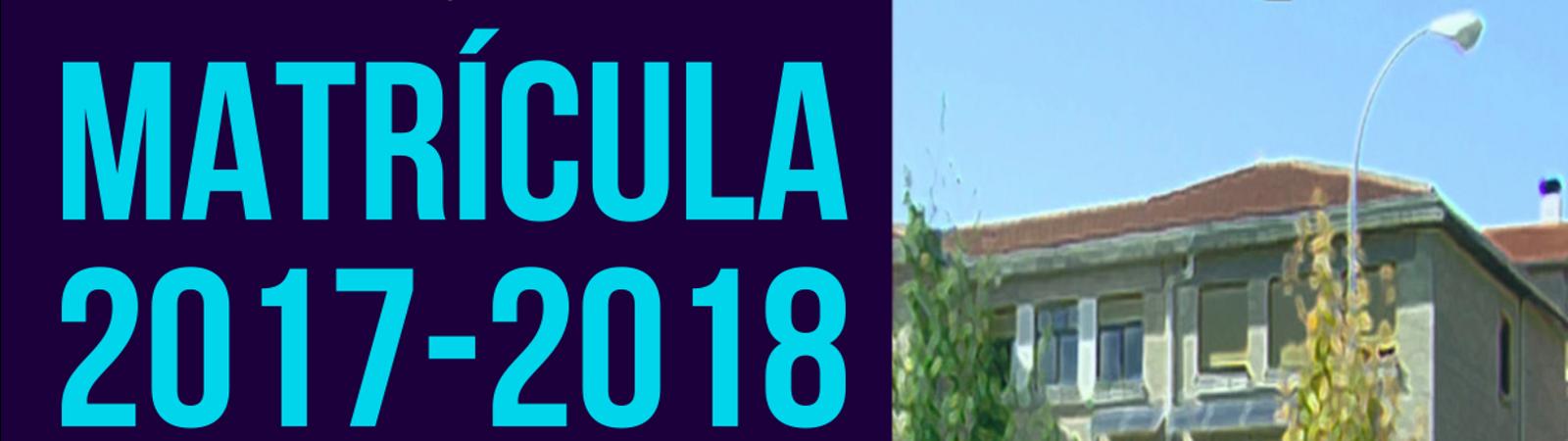 Matrícula curso 2017-2018