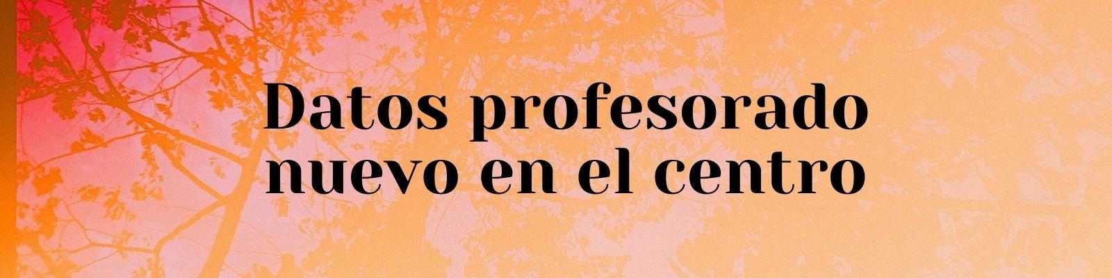 FICHA DE DATOS PARA EL PROFESORADO